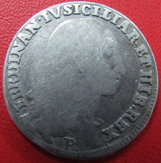 Italia Moneda Napoles 1796 20 Grana De Plata F Fernando Iv