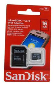 05 Cartão De Memória Sd Sandisk 100% Original 16gb Atacado