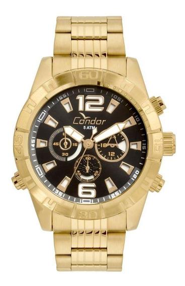 Relógio Masculino Condor Civic Covd54aw/4p 49mm Aço Dourado