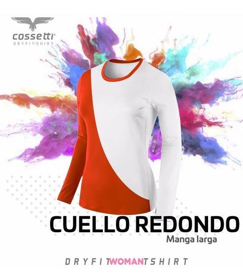 Playera Cuello Redondo Cossetti Larga Dryfit Duo Fit Xl 2xl