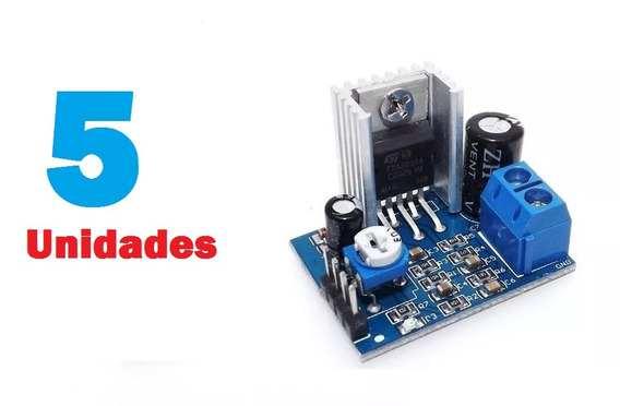 5 X Amplificador Montado Tda2030 Barato 18 W Audio