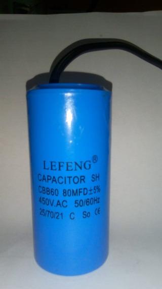 Capacitor Permanente 80uf 450vac