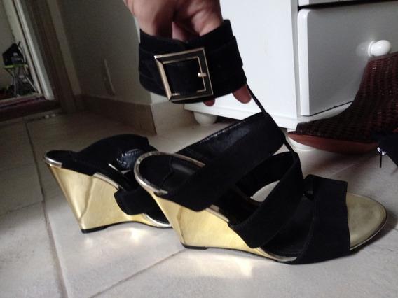 Anabela Schutz 39 Nova Solado Dourado