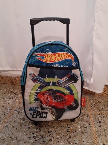 Mochila Hotwheels Con Carro 13 Pulgadas