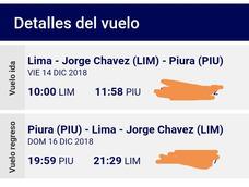 Pasajes Dobles Ida Y Vuelta A Piura! Oferta Diciembre!