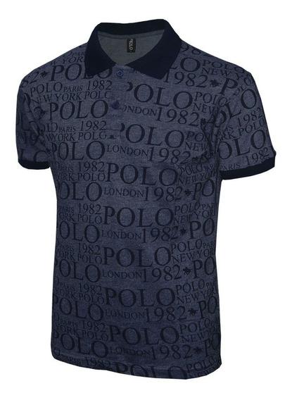 Camisa Masculina Polo Rg518 Com Estampa