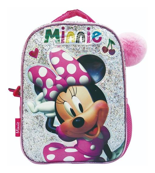 Mochila Minnie Disney Original Jardin Gliter 12 Km199 Maple