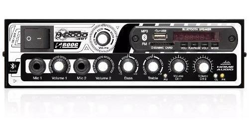 Amplificador Receiver Boog Mx2000 Bt Usb Som Ambiente 300 W