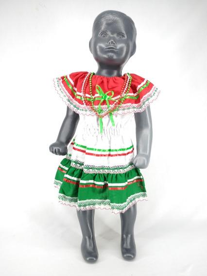 Vestido Tricolor Niña 15 Septiembre Fiestas Patrias Collare