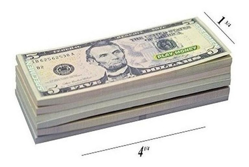 Imagen 1 de 4 de Us Play Money A Un Costado 30 Bills De $ 1 $ 5 $ 10 $ 20 $ 5