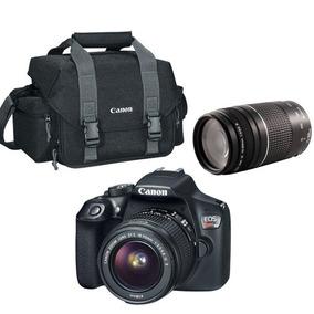 Câmera Digital + Lente 18-55mm + 75-300mm + Bolsa - Canon