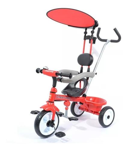 Triciclo Bebesit Con Capota Y Guia 4 En 1 Rojo - Envíos!
