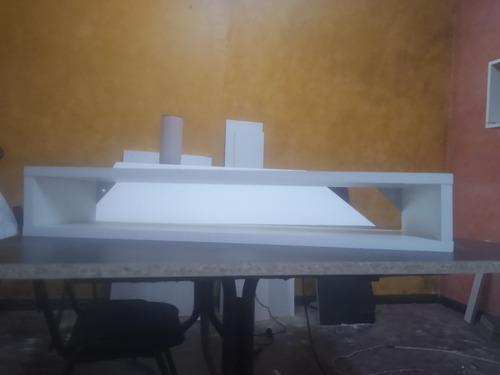 Imagen 1 de 3 de Estante Flotante Combo Soporte 180 55 Smart Lcd Tv Play Cpu