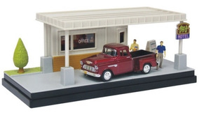 Chevy Stepside 1955 A Little R&r Diorama 1:43 Motor Max