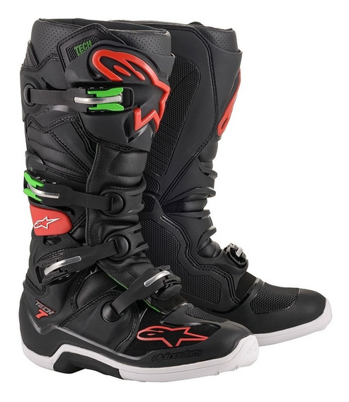Bota Alpinestars Tech 7 Motocross Cross Preta