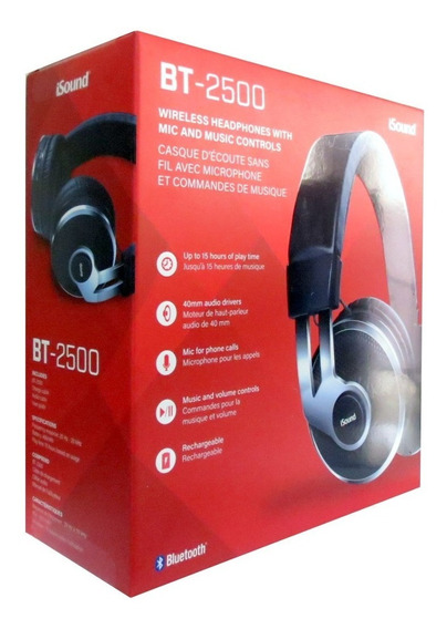 Headset Isound Bt-2500 Bluetooth Sem Fio C/microfone Eua