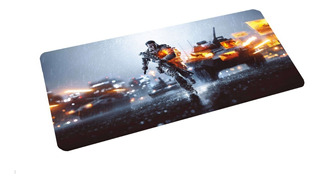 Mouse Pad Battlefield 70x30 Cm Xl Caucho Antideslizante