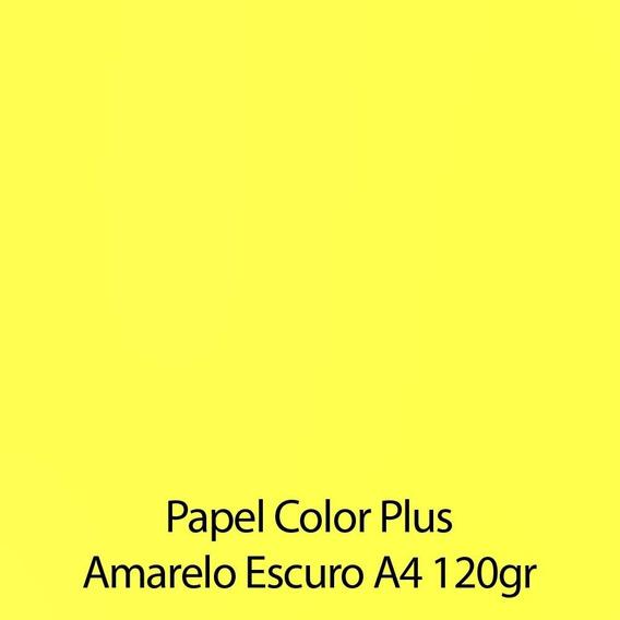 Papel Color Plus Liso Fosco A4 - 120g 50 Folhas -escolha Cor