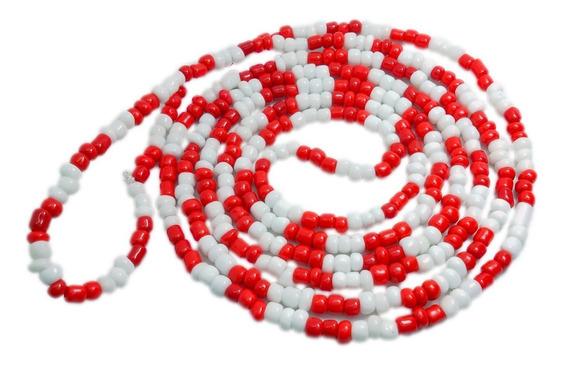 Colar Guia De Miçanga Vermelho E Branco Zé Pelintra