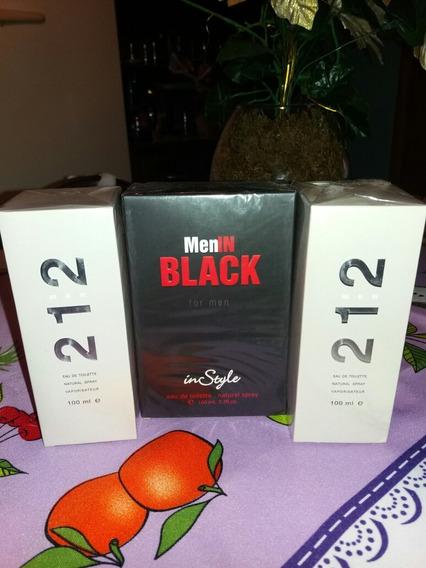 Kit Com 2 Perfumes 212 Men 100 Ml Lacrado Original