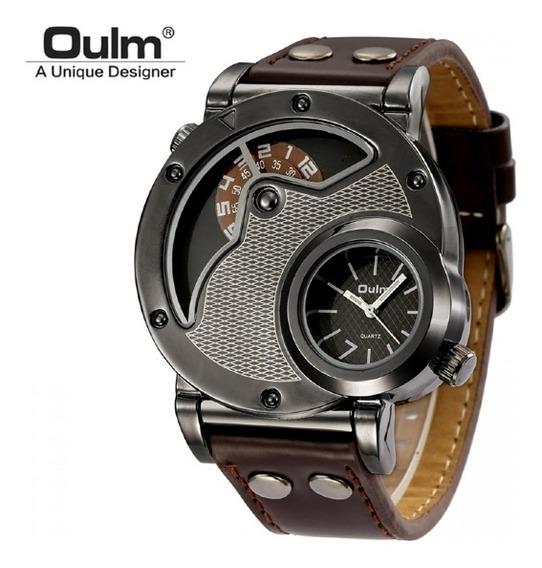 Relógio Masculino Oulm Marron
