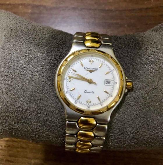 Relógio Longines Aço Inoxidável Dourado E Prateado Antigo