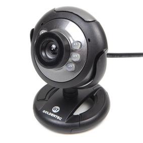 Webcam 16mp Goldentec Gt824 Usb Com Microfone E 6 Leds Preta