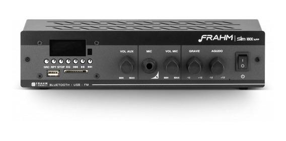 Amplificador - Receiver Para Som Ambiente Frahm Slim 1800