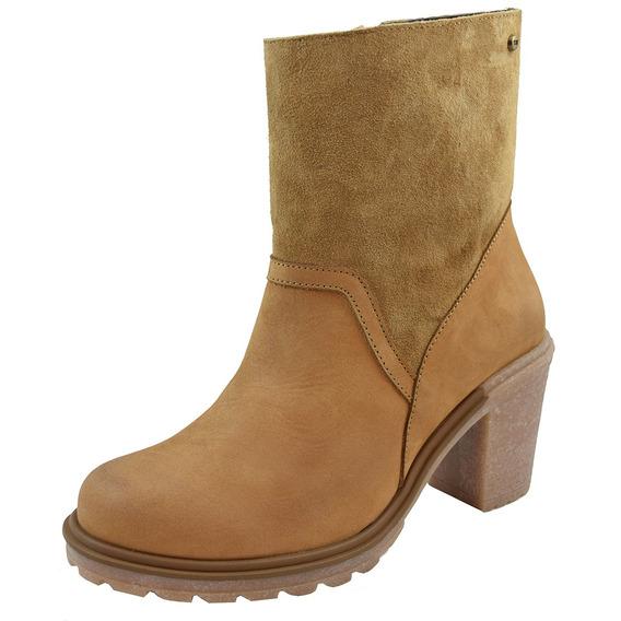 Zapatos Dama Estilo Bota Casual Cómoda I127372 Tan Levi