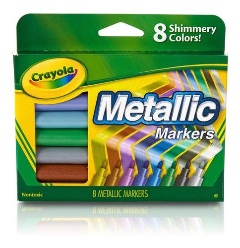 Imagen 1 de 4 de Marcadores Metalizados Crayola X8 Colores Brillantes