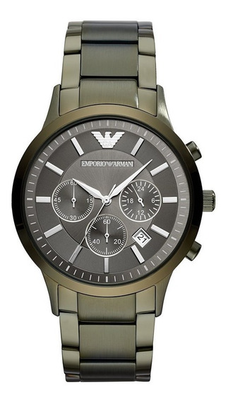 Reloj Análogo Marca Armani Modelo: Ar11117 Color Verde Para