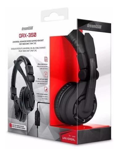 Headset Dreamgear Grx-350 Gaming Preto Para One - Ps4 E Pc