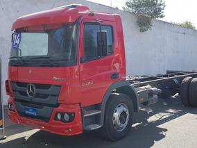 Mb Mercedes Benz Atego 2429 Vermelho 2014 Chassi 6x2