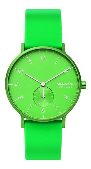 Reloj Unisex Skagen Aaren Kulor Neon Skw6556 Color Verde