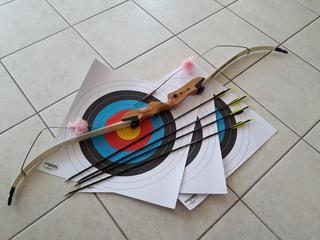 Arco Recurvo Kap Infantil . Acompanha 4 Flechas E 3 Alvos