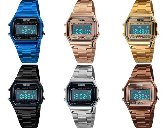 Reloj Unisex Skmei Digital Retro Vintage Original 1123
