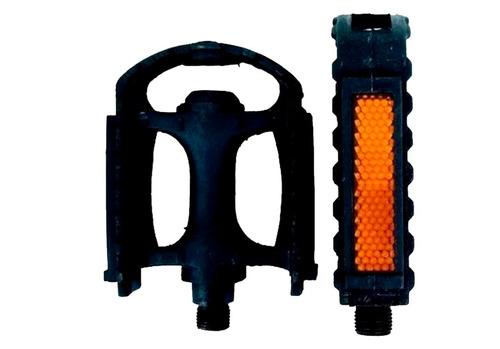Imagen 1 de 4 de Pedales Bicicleta - Resina Plastico - Rosca 1/2 - Playera