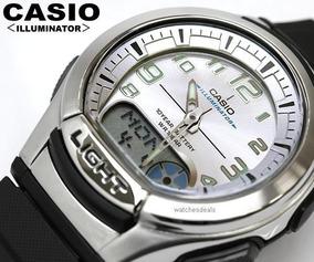 Relógio Casio Anadigi Aq-180w-7bvdf Prata