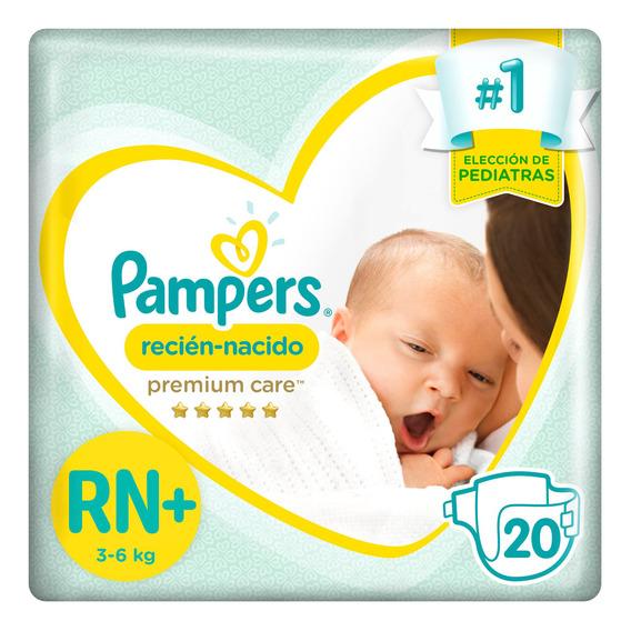 Pañales Pampers Premium Care Recién Nacido Rn+ 20u