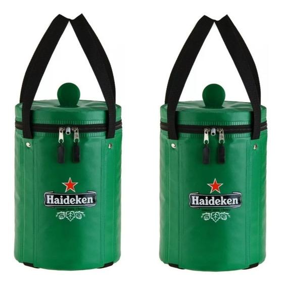 2 Bolsas Térmicas Barril Heineken. Haideken Tomar Meu Chopp