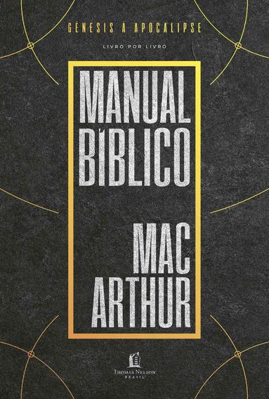 Livro Manual Bíblico Macarthur - Repack