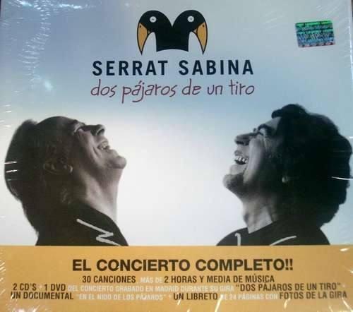 Serrat Sabina 2 Pajaros De Un Tiro 2 Cd + Dvd Oferta Nuevo