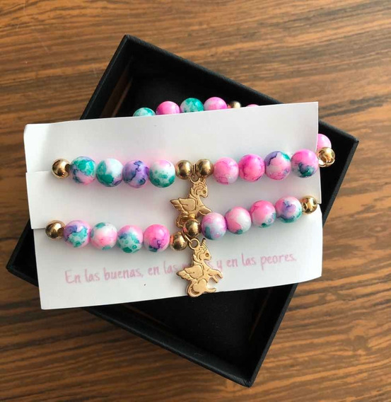 Pulsera Unicornio Amigas Amistad Best Friends Flexible