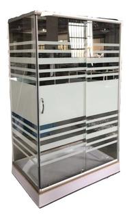 Box Cabina De Ducha Cuadrada 120x80 Vidrio 5mm + Receptaculo