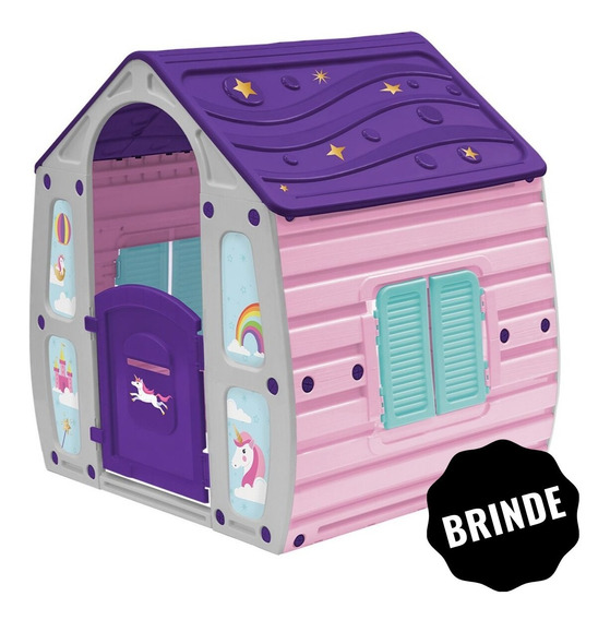 Casinha Infantil Playground De Criança Brinquedo + Brinde