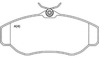 Pastilha Diant Girling Discovery 2.5 /4.0 V8 98 /..range --