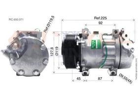 Compressor Caminhao Scania  Modelo 7h15 7980 2007 24 Volt