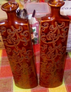 Jarrones Floreros Decorativos Leer Antes De Ofertar ( Par)