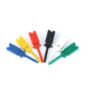 Kit X6 Conectores Pinzas Hook Clip Gancho Multimetro