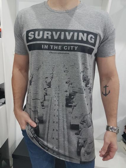 Camiseta Masculina Long Colcci Original
